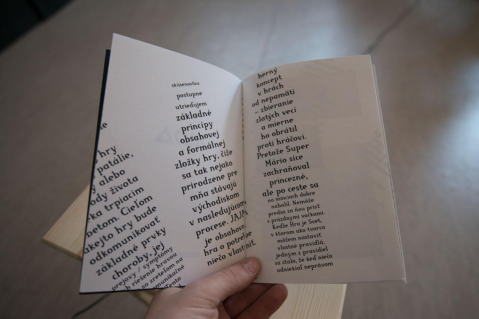 JAJA / Publikácia typografia