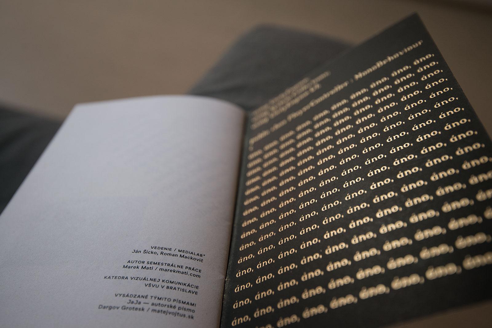 JAJA / Publikácia detail na predsádku, grafický dizajn