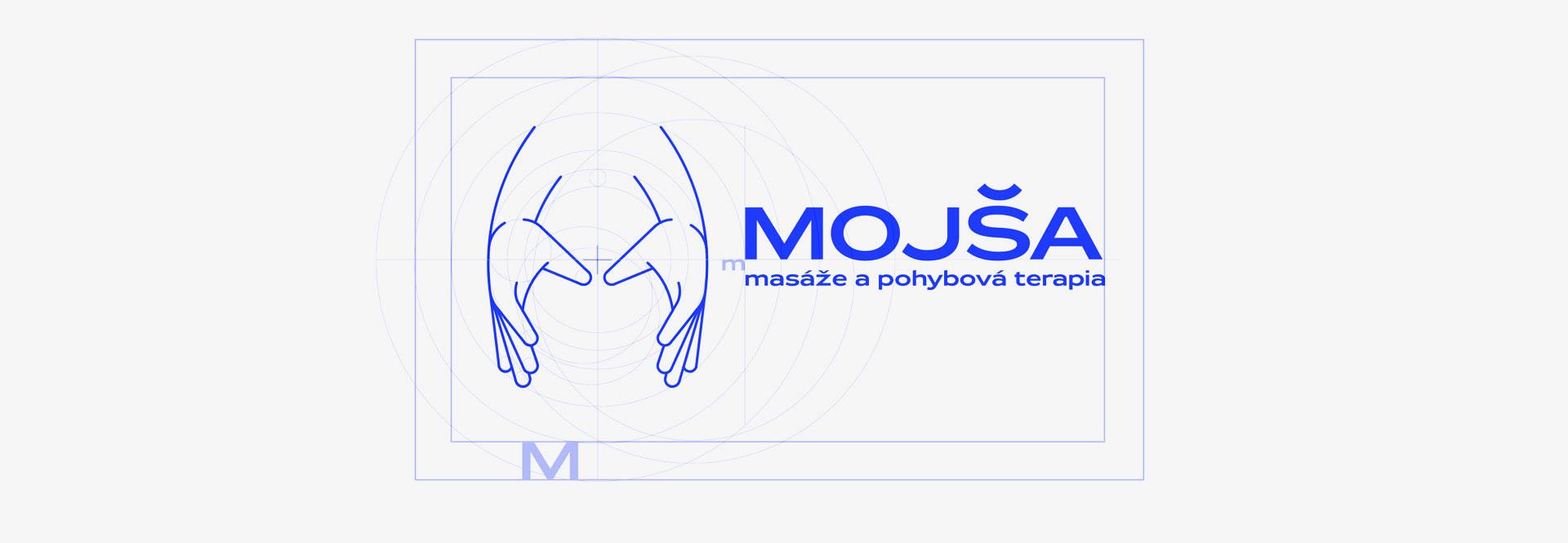 MOJŠA, fyzioterapia, logo, grafický dizajn