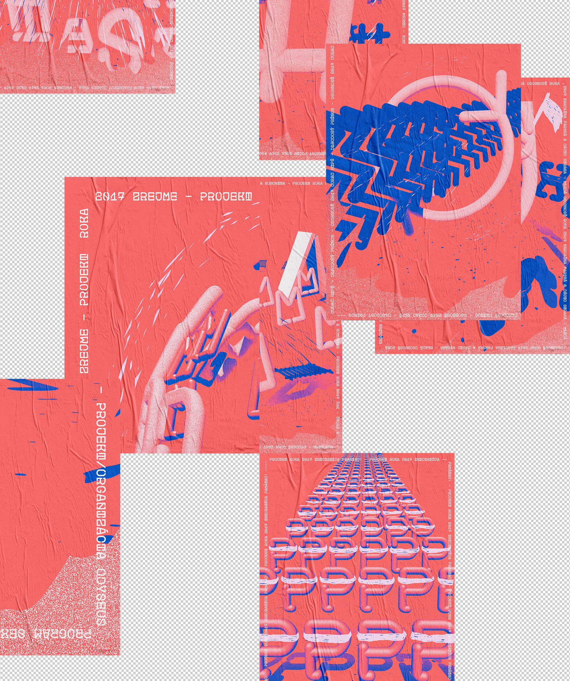 MOST plagáty, grafický dizajn