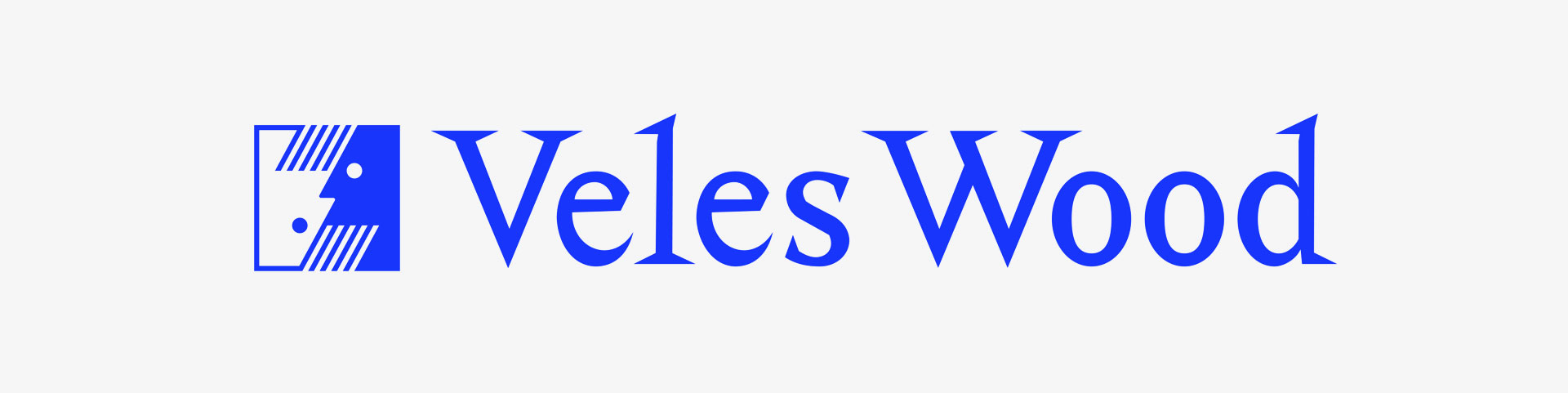 Veleswood logo, grafický dizajn
